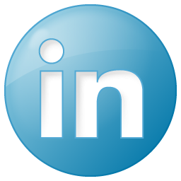 social linkedin button blue